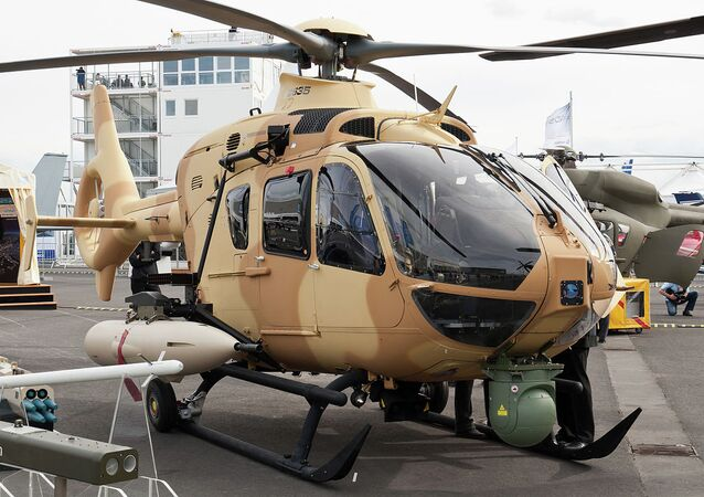 Eurocopter EC 635 mock-up at ILA Berlin Air Show 2012