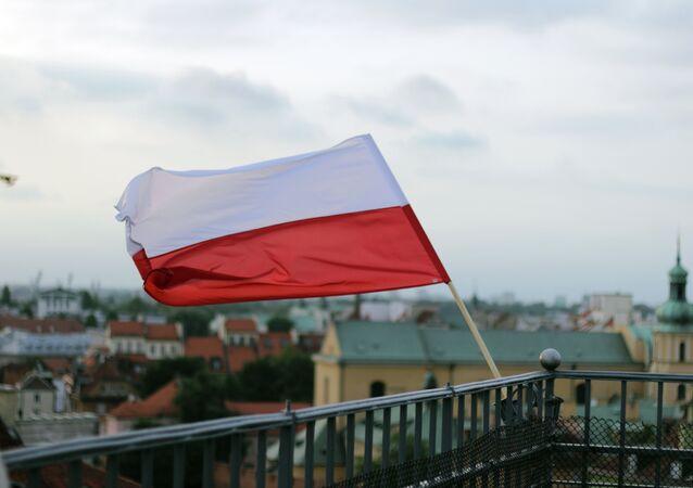 Polish flag in Warsaw