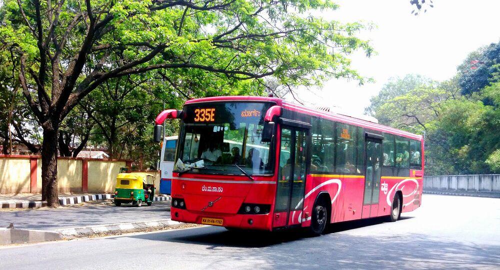 Volvo AC bus by BMTC Bangalore
