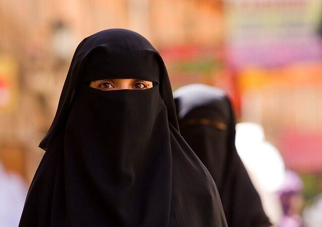 Veiled Woman portrait