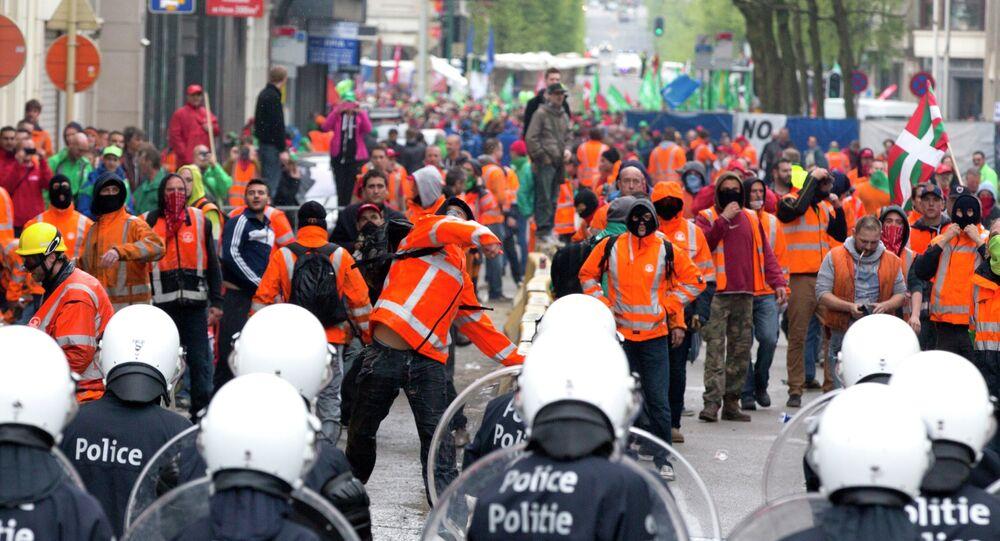 Belgium Labor Protests