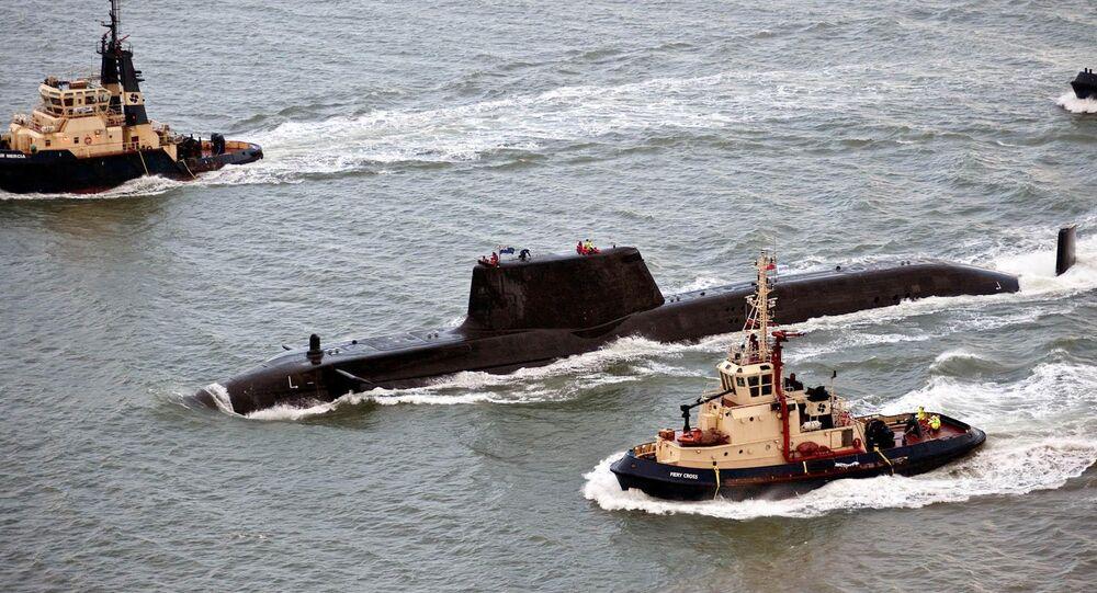 HMS Astute, the first nuclear-powered Astute Class submarine