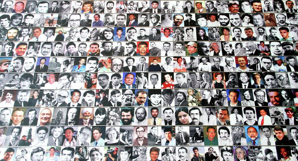 Journalist Memorial Wall in memory of and in honor to the many journalist who died in the line of duty throughout the world