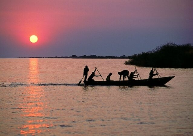 Fisherman on Lake Tanganyika, Mishemba Bay, Zambia.