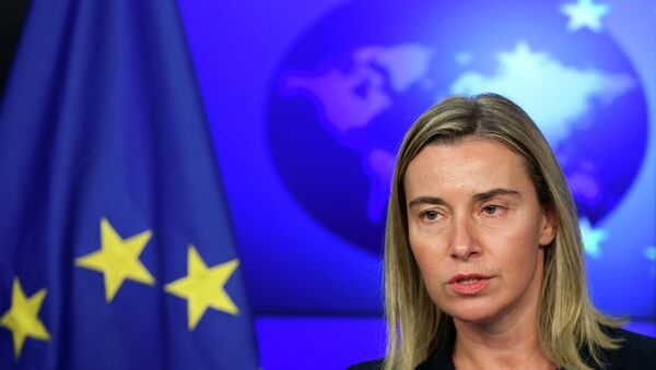 European Union foreign policy chief Federica Mogherini said that additional EU sanctions against Crimea could be announced as early as on December 18 - Sputnik International