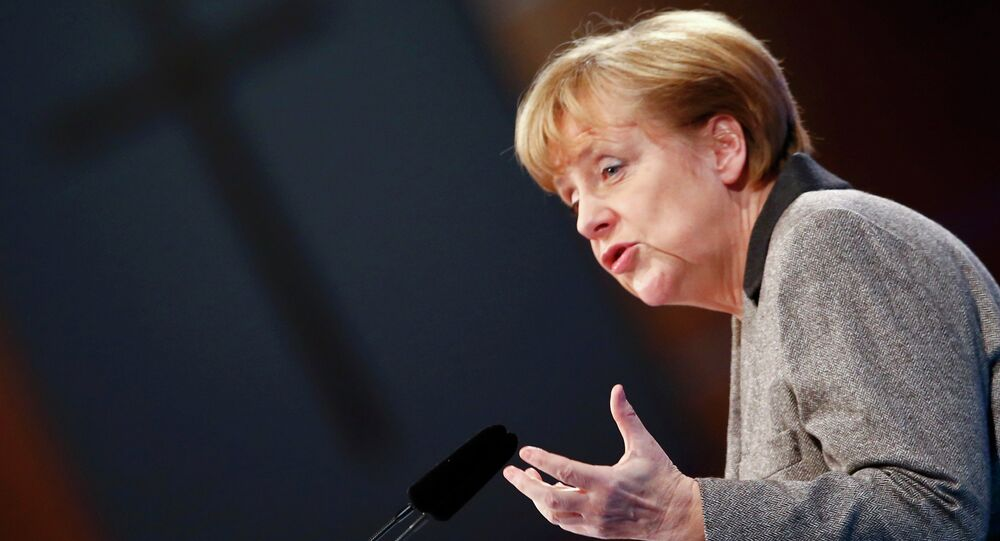 Angela Merkel, German chancellor and leader of the Christian Democratic Union party CDU
