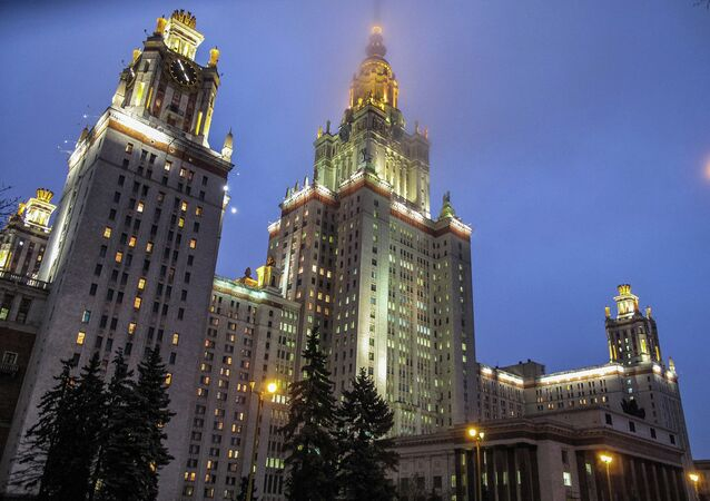 The main building of Moscow State University