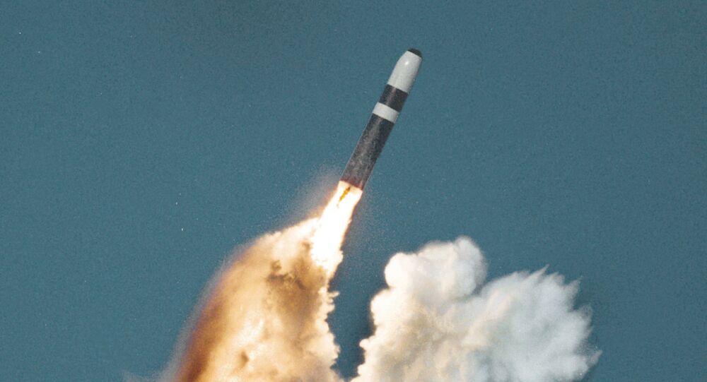 Trident II missile underwater launch