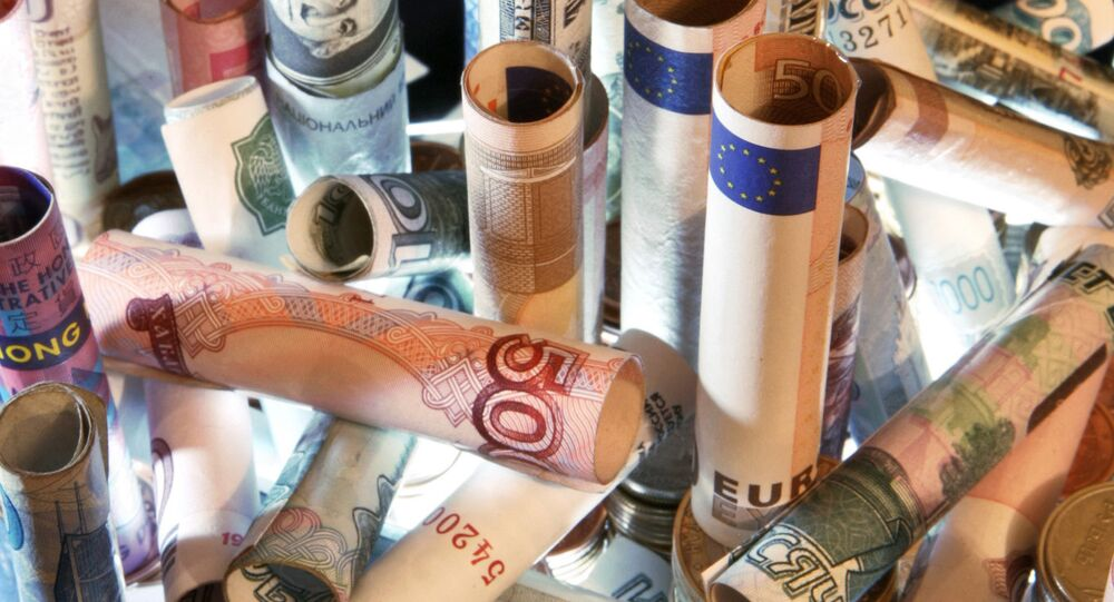 Banknotes and coins from all over the world