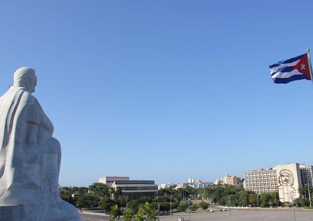 Площадь Революции в Гаване, под которой, по утверждениям СМИ, находится бункер, где проходит лечение Уго Чавес.