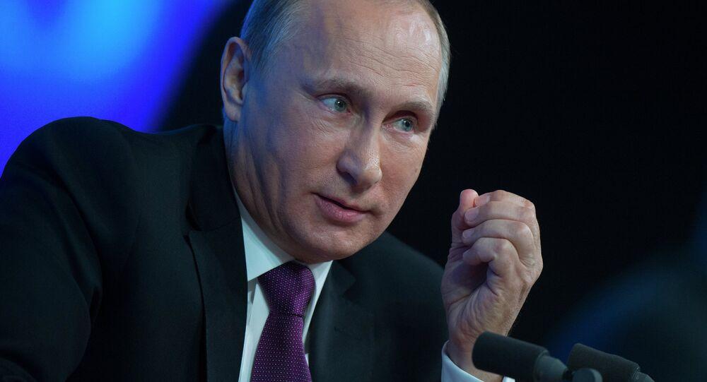 Tenth annual major news conference of Russian President Vladimir Putin