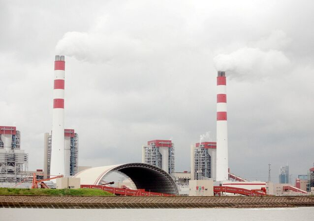Smoke is discharged from chimneys at the Waigaoqiao coal-fired power plant in Pudong, Shanghai, China