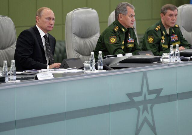 В.Путин провел расширенное заседание Коллегии министерства обороны РФ