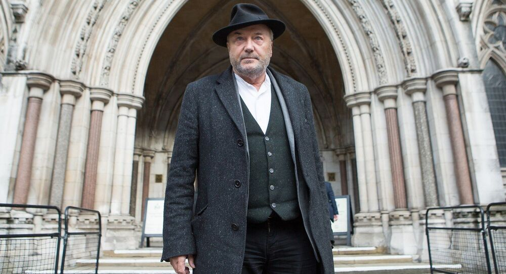 George Galloway appears at the Royal Courts of Justice for the inquest into the death of Dr. Abbas Khan in Syria. London, United Kingdom