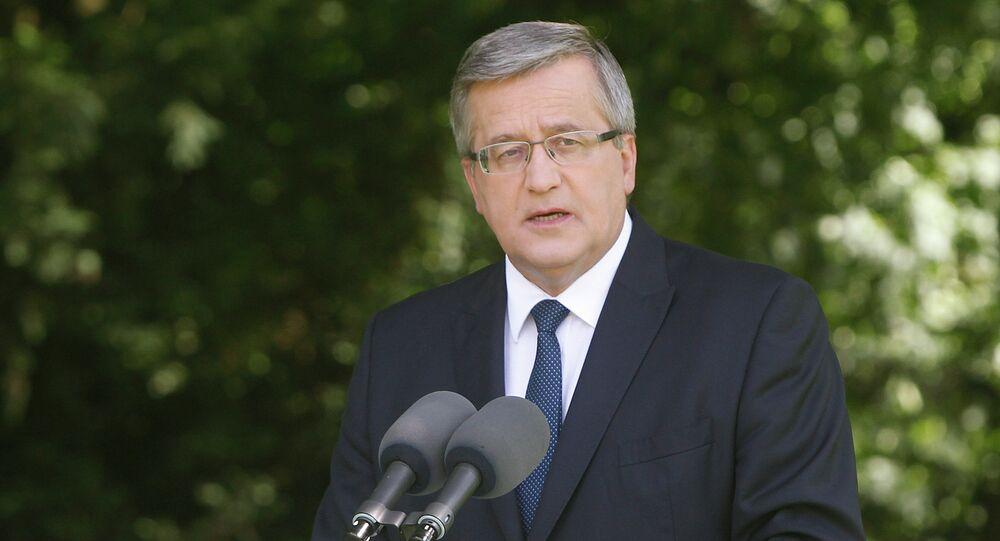 Poland's President Bronislaw Komorowski