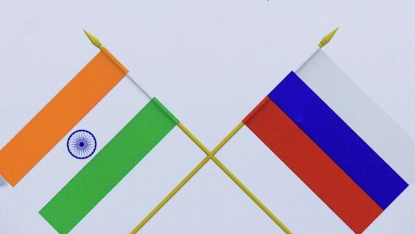 Flags, India and Russia - Sputnik International