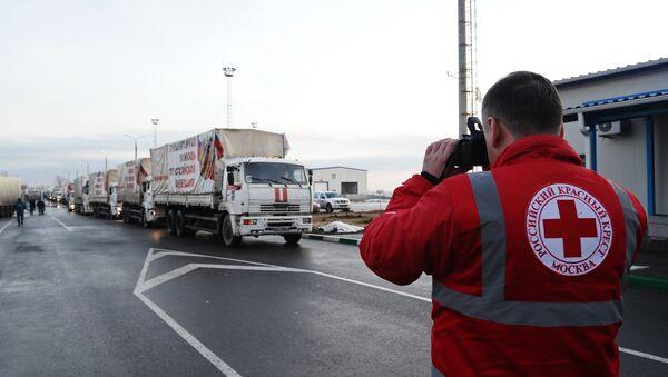 Russia's humanitarian convoy has crossed the Russia-Ukraine border - Sputnik International
