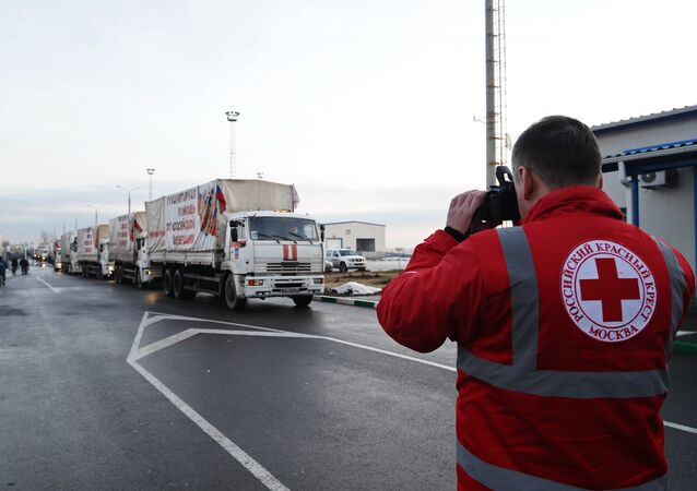 Russia's humanitarian convoy has crossed the Russia-Ukraine border