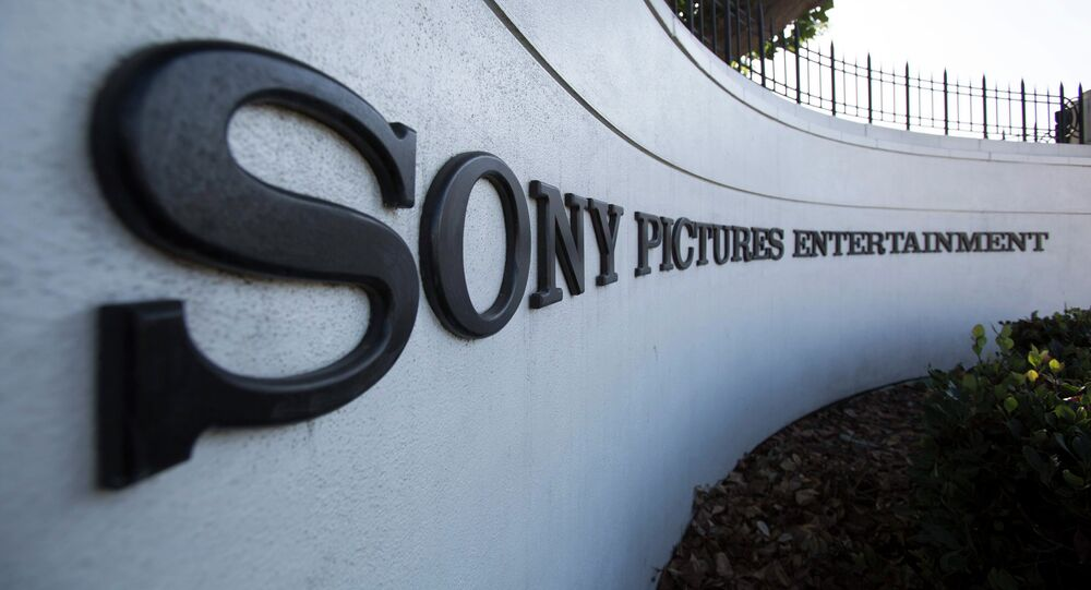 A logo is pictured outside Sony Pictures Studios in Culver City, California December 19, 2014