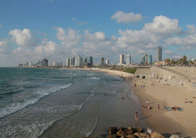 The coast near the Israeli city of Jaffa