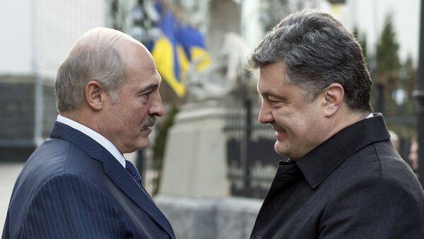 Poroshenko and Lukashenko - Sputnik International