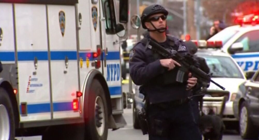 Footage of Scene Where Two NYPD Officers Were Killed by African American