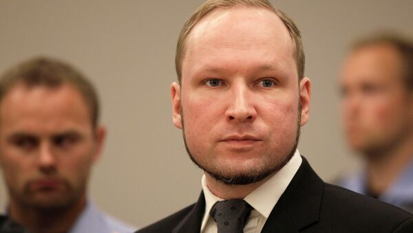 Anders Behring Breivik listens to the judge in the courtroom, Friday, Aug. 24, 2012, in Oslo, Norway - Sputnik International