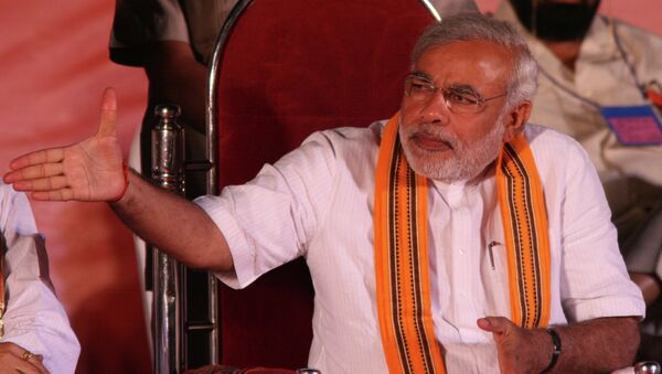 Narendra Modi at a BJP rally - Sputnik International