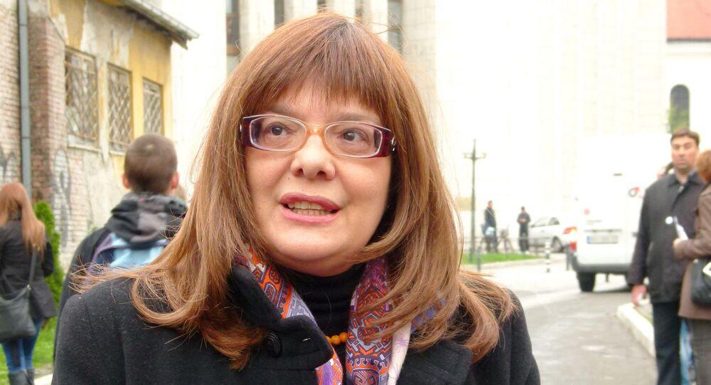 Serbian Parliament speaker Maja Gojkovic