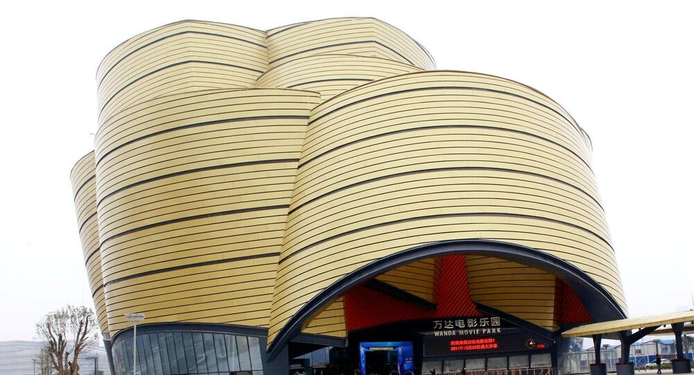 The Wanda Movie Park complex in Wuhan City, part of a Dalian Wanda Group project bookending a 1.5 kilometer long 'street of culture'