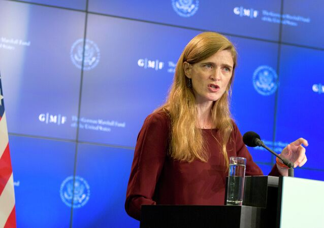 The US Ambassador to the United Nations Samantha Power
