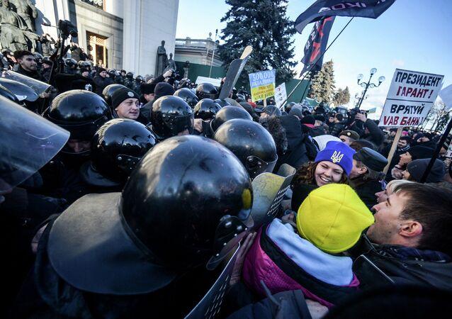 A protest in central Kiev