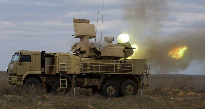 Pantsir-S missile system at work