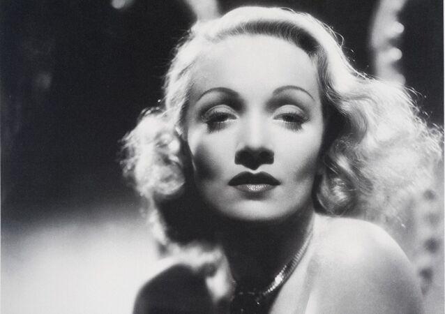 The movie actress Marlene Dietrich