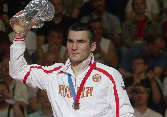 Artur Beterbiev, 81 kg, gold winner of the European Boxing Championships.