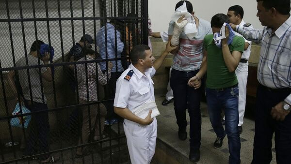 Eight Egyptian men, previously sentenced to three years in jail on charges of inciting debauchery after they appeared in a viral video showing a symbolic same-sex marriage have had their prison terms reduced to one year - Sputnik International