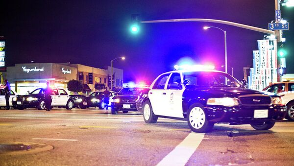 The Los Angeles Police Department has declared a tactical alert in the city after two people fired at a patrol car with a rifle. - Sputnik International