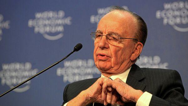 Rupert Murdoch at World Economic Forum Annual Meeting in Davos. - Sputnik International
