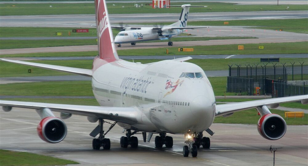 A Virgin Atlantic flight VS43 heading to Las Vegas from Gatwick encountered technical problems with its landing gear and was sent back where it safely landed
