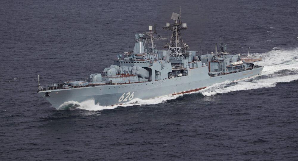 Vice-Admiral Kulakov, an Udaloy-class destroyer