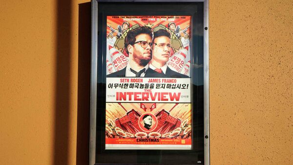The poster for the film The Interview is seen outside the Alamo Drafthouse theater in Littleton, Colorado December 23, 2014 - Sputnik International