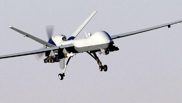US MQ-9 Reaper drone in flight - Sputnik International