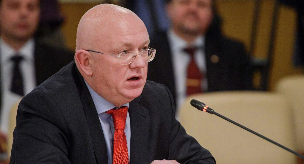 Russian Envoy to the United Nations Vasily Nebenzya