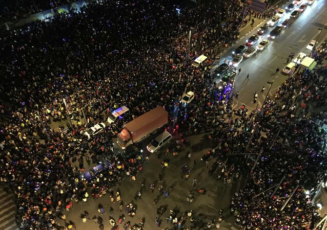 The stampede by New Year's revellers in Shanghai's historic riverfront area killed 35 people