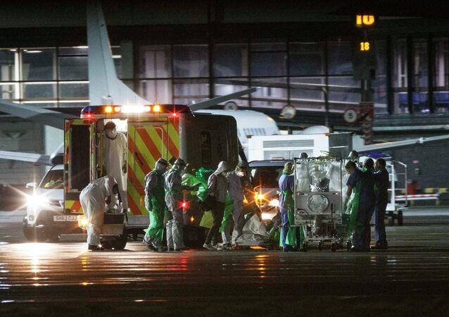 An Ebola patient