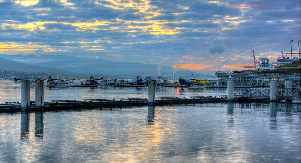 Coal Harbor Sunrise in Vancouver