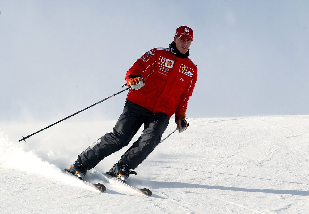 Ferrari Formula one driver world champion German Michael Schumacher