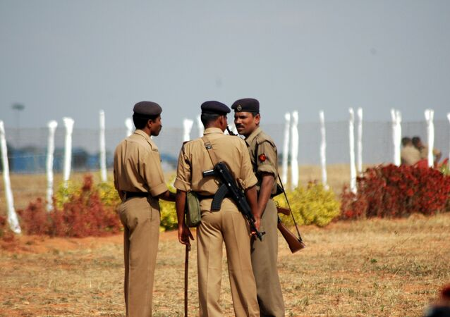 Indian police have arrested five Indian men who held a Japanese woman hostage and raped her for a month.