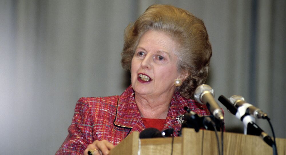 Margaret Thatcher speaking at Moscow State Institute of Foreign Relations (MGIMO)