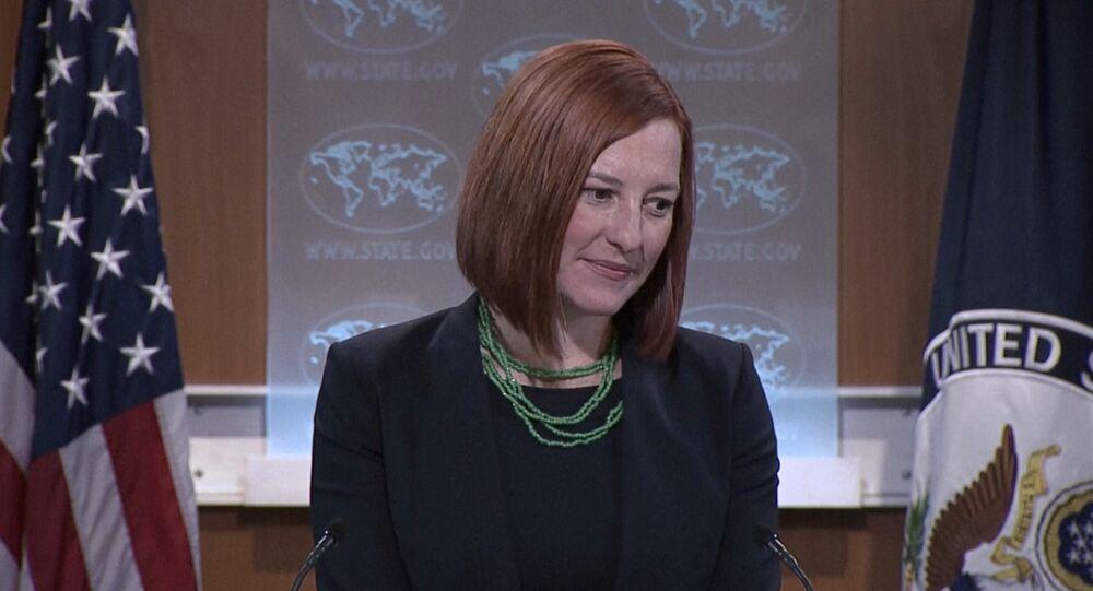 US State Department spokesperson Jen Psaki